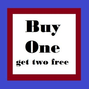 Buy one get two free